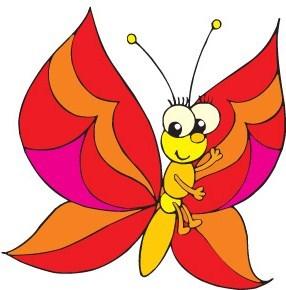 Výsledek obrázku pro kreslený obrázek motylka